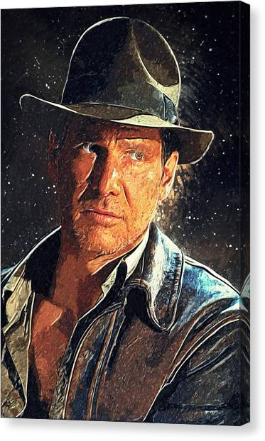 Raiders Of The Lost Ark Canvas Print - Indiana Jones by Taylan Apukovska