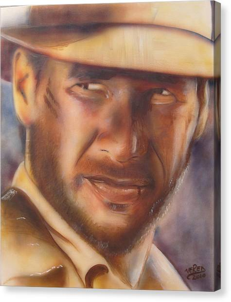 Raiders Of The Lost Ark Canvas Print - Indiana Jones by Vered Thalmeier