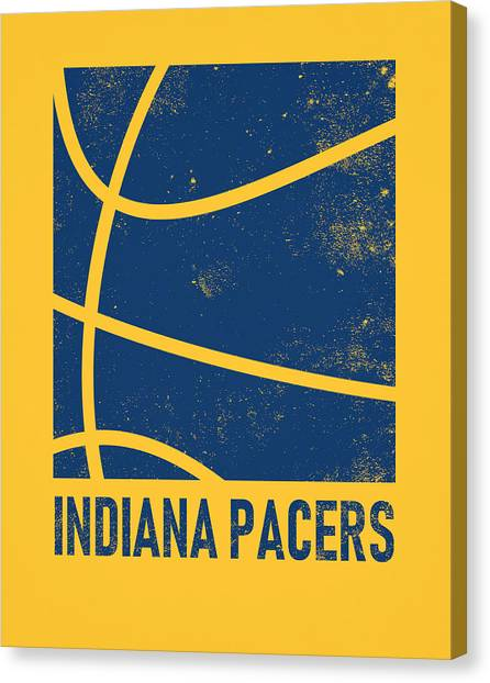 Indiana Pacers Canvas Print - Indiana Pacers City Poster Art 2 by Joe Hamilton