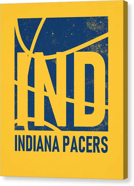 Indiana Pacers Canvas Print - Indiana Pacers City Poster Art by Joe Hamilton