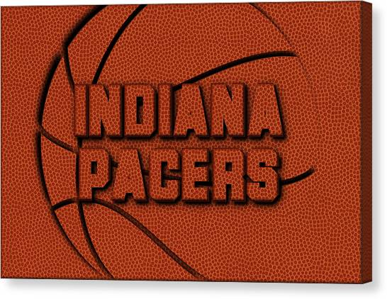 Indiana Pacers Canvas Print - Indiana Pacers Leather Art by Joe Hamilton