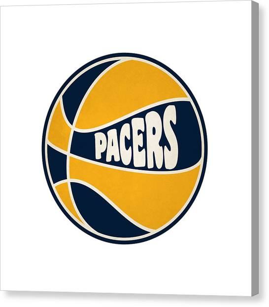 Indiana Pacers Canvas Print - Indiana Pacers Retro Shirt by Joe Hamilton