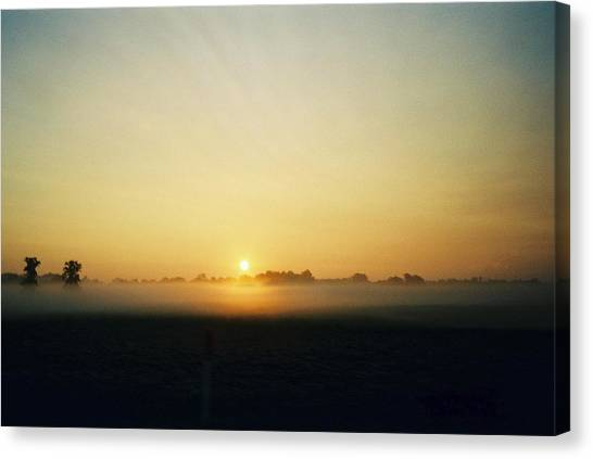 Indiana Sunrise Canvas Print by Gene Linder