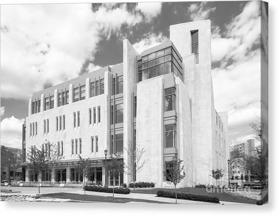 Indiana University Iu Canvas Print - Indiana University East Studio Building by University Icons