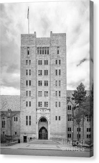 Indiana University Iu Canvas Print - Indiana University Memorial Union by University Icons