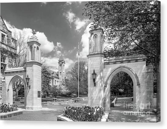 Big Ten Canvas Print - Indiana University Sample Gates by University Icons