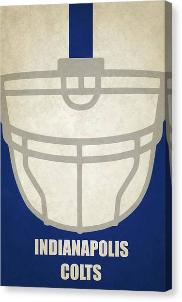 Indianapolis Colts Canvas Print - Indianapolis Colts Helmet Art by Joe Hamilton