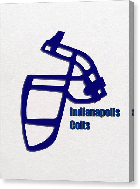 Indianapolis Colts Canvas Print - Indianapolis Colts Retro by Joe Hamilton