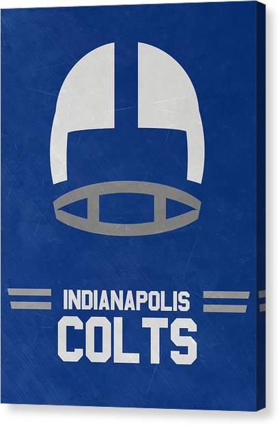 Indianapolis Colts Canvas Print - Indianapolis Colts Vintage Art by Joe Hamilton