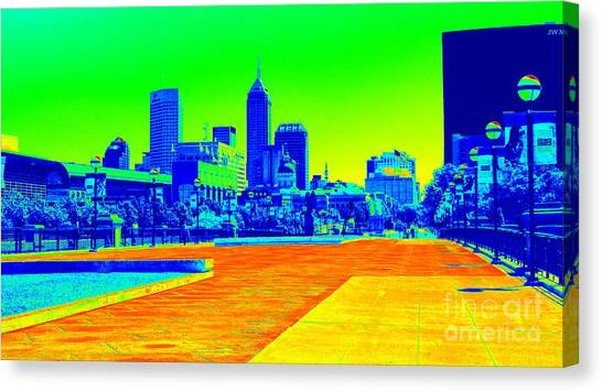 Indianapolis Heat Tone Canvas Print