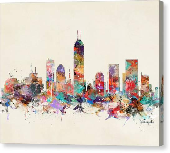 Indianapolis Canvas Print - Indianapolis Indiana  by Bri Buckley