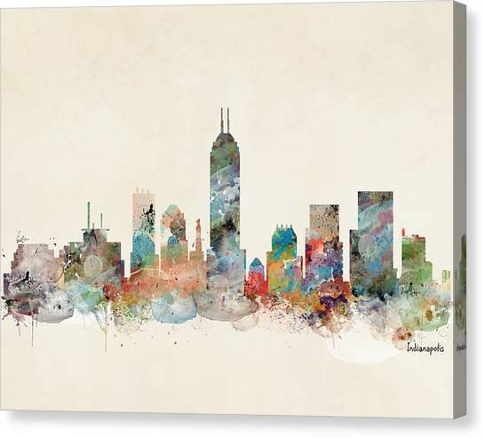 Indianapolis Canvas Print - Indianapolis Indiana Skyline by Bri Buckley