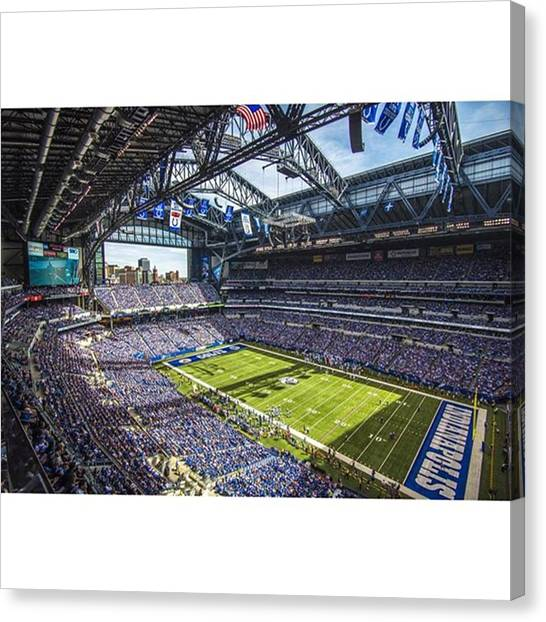 Indiana Pacers Canvas Print - #indianapolis #indianapoliscolts by David Haskett