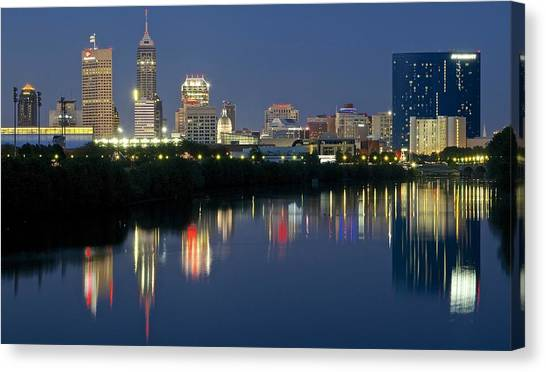 Indianapolis Night Canvas Print