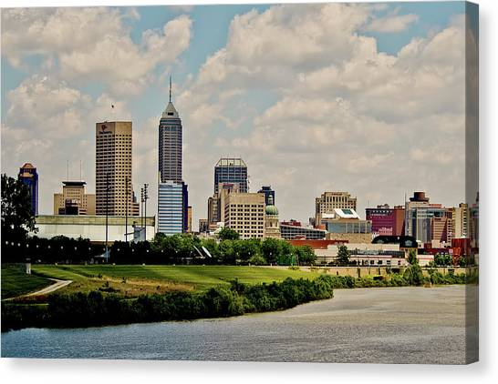 Indianapolis Skyline 25 Canvas Print