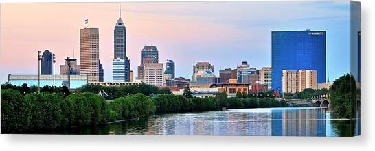 Indiana Pacers Canvas Print - Indianapolis Wide Angle by Frozen in Time Fine Art Photography