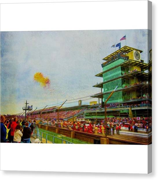 Racing Canvas Print - @indianapolismotorspeedway by David Haskett II