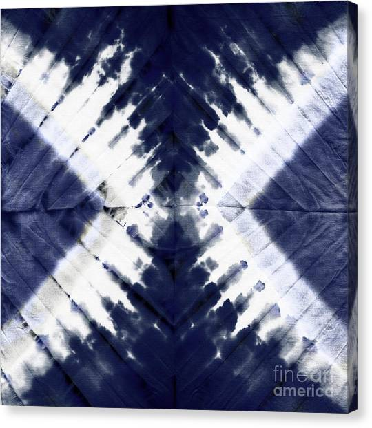 Tie-dye Canvas Print - Indigo II by Mindy Sommers