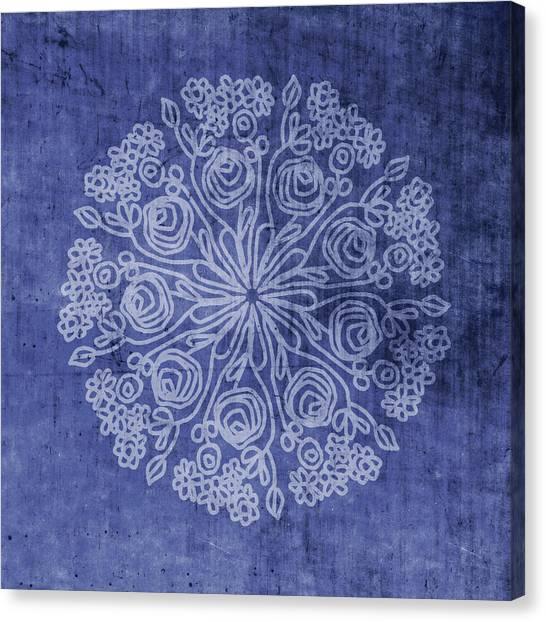 Mandala Canvas Print - Indigo Mandala 2- Art By Linda Woods by Linda Woods