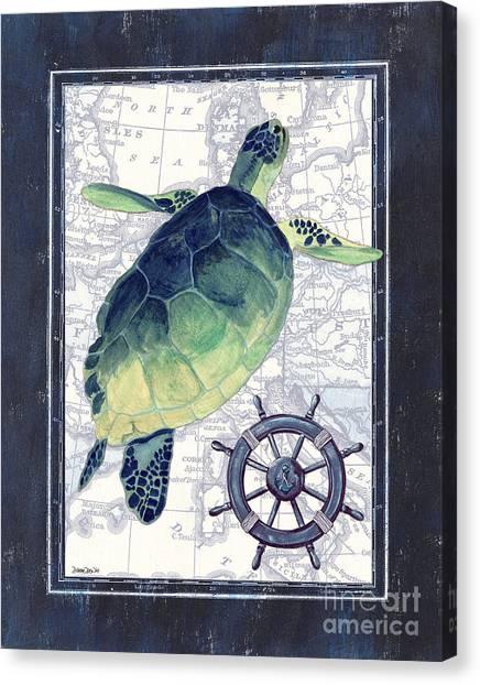 Marinas Canvas Print - Indigo Maritime 1 by Debbie DeWitt