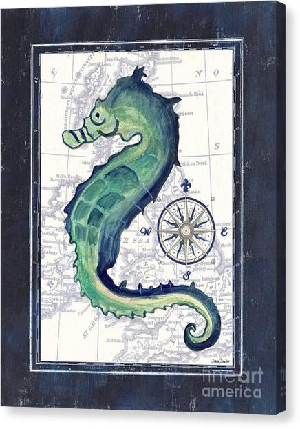 Marinas Canvas Print - Indigo Maritime 2 by Debbie DeWitt