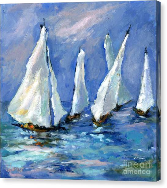 Indigo Seas Canvas Print