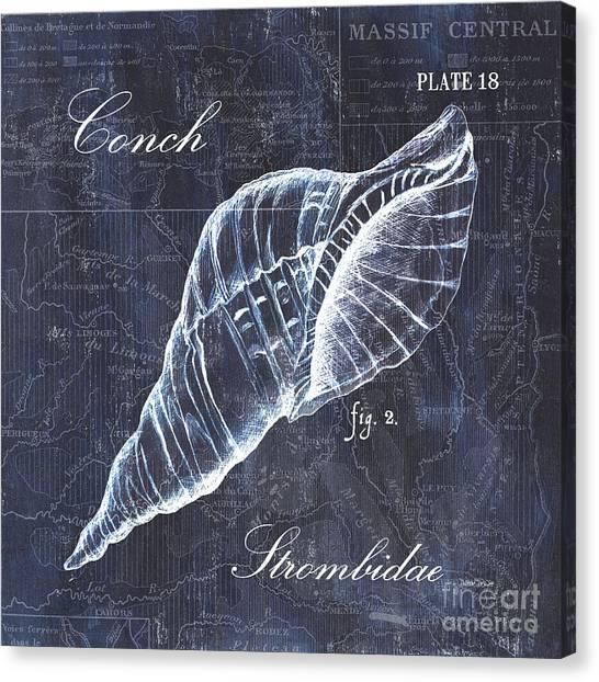 Ocean Life Canvas Print - Indigo Verde Mar 3 by Debbie DeWitt