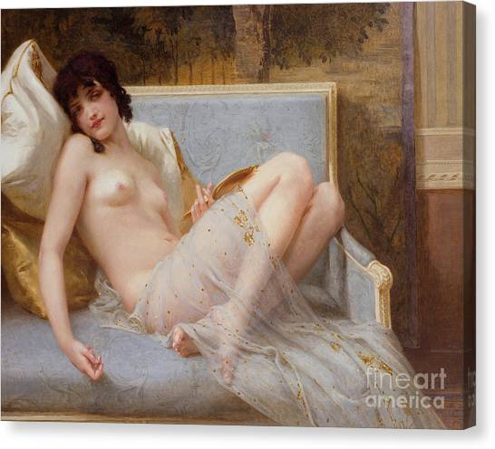 Laying Canvas Print - Indolence by Guillaume Seignac