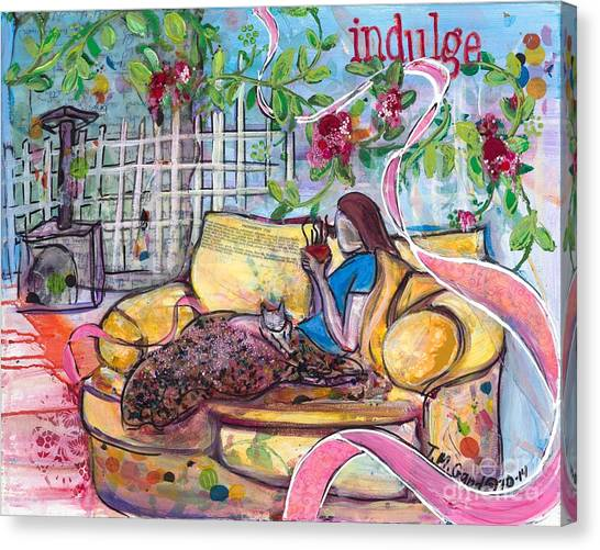 Canvas Print featuring the painting Indulge by TM Gand