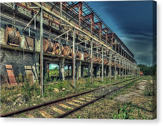 Industrial Archeology Railway Silos - Archeologia Industriale Silos Ferrovia Canvas Print