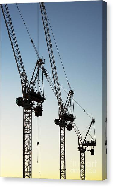 Jibbing Canvas Print - Industrial Cranes by Tim Gainey