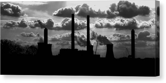Industrial Night Canvas Print