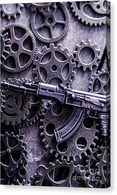 Fighting Canvas Print - Industrial Firearms  by Jorgo Photography - Wall Art Gallery