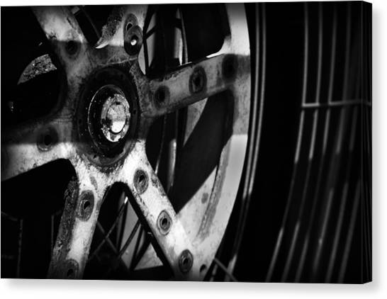 Canvas Print featuring the photograph Industrial Gear by Kelly Hazel