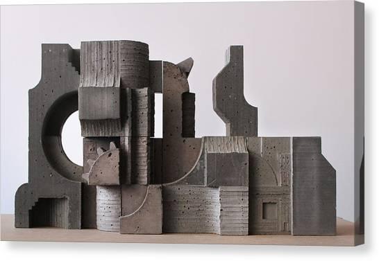Industrial Landscape 1 Canvas Print by David Umemoto