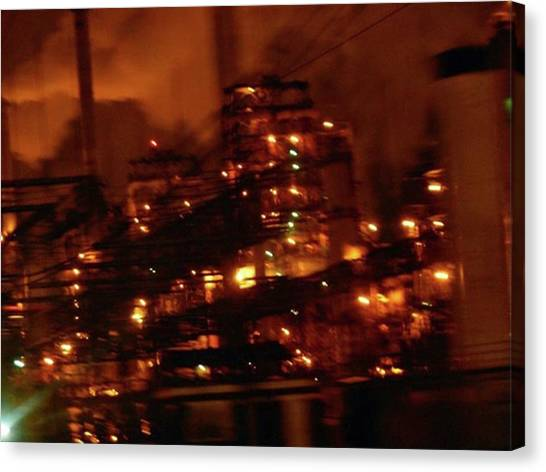 Steampunk Canvas Print - Industrial Nights✴ Steam Punk by Cheray Dillon