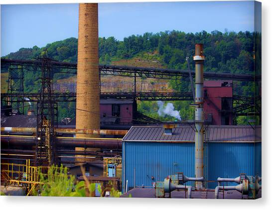 Ohio Valley Canvas Print - Industrial Sight by Roberta Byram