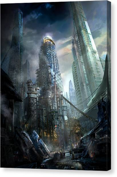 Future Tech Canvas Print - Industrialize by Philip Straub