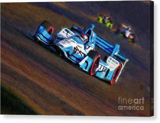 Marco Andretti Canvas Print - Indy Car Marco Andretti 2017 by Blake Richards