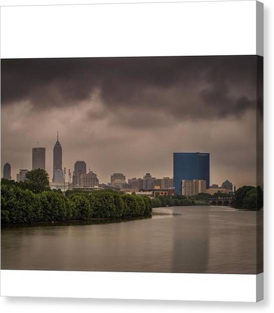 Indianapolis Colts Canvas Print - #indy #indiana #indianapolis #hoosier by David Haskett II
