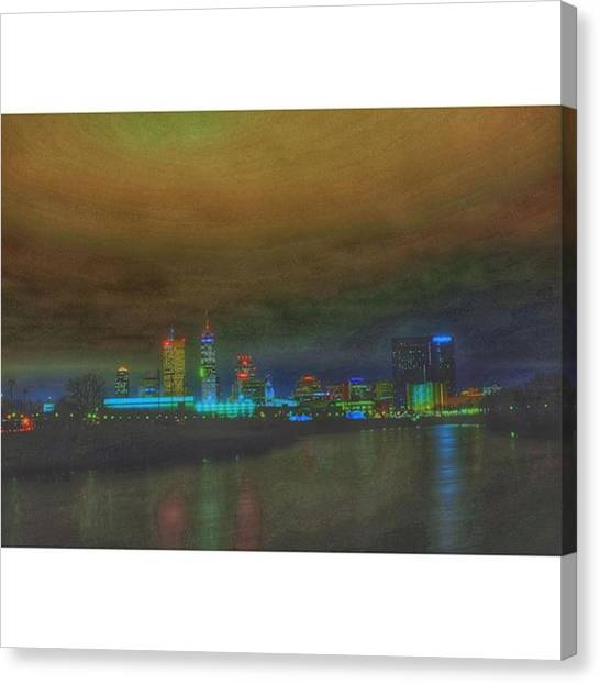 Indiana Canvas Print - #indy #indiana #indianapolis #naptown by David Haskett
