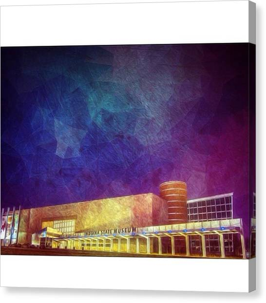 Stars Canvas Print - #indy #indianamuseum #indiana by David Haskett II