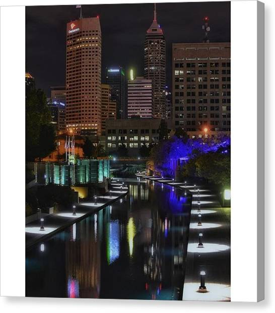 Indianapolis Colts Canvas Print - #indy #indylove #indiana #indianapolis by David Haskett II