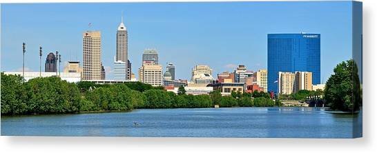 Indiana Pacers Canvas Print - Indy Panoramic by Frozen in Time Fine Art Photography
