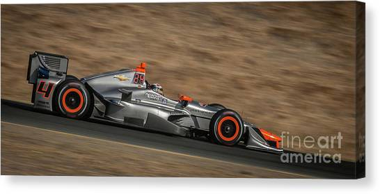 Marco Andretti Canvas Print - Indycar 2015 by Webb Canepa