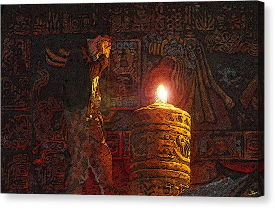 Raiders Of The Lost Ark Canvas Print - Indys Golden Idol by David Lee Thompson