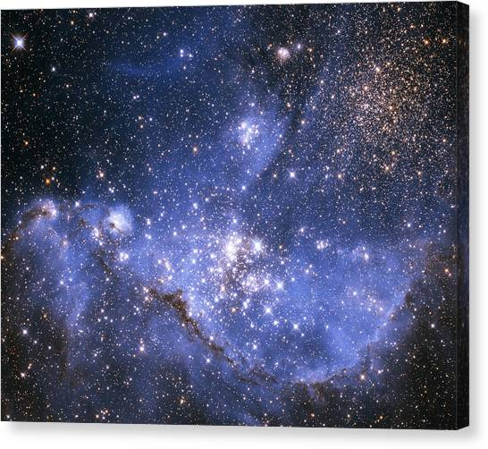 Infant Stars In The Small Magellanic Cloud  Canvas Print