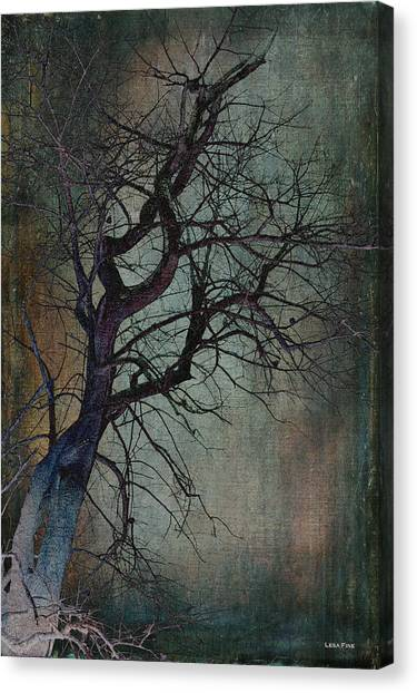 Infared Tree Art Twisted Branches Canvas Print