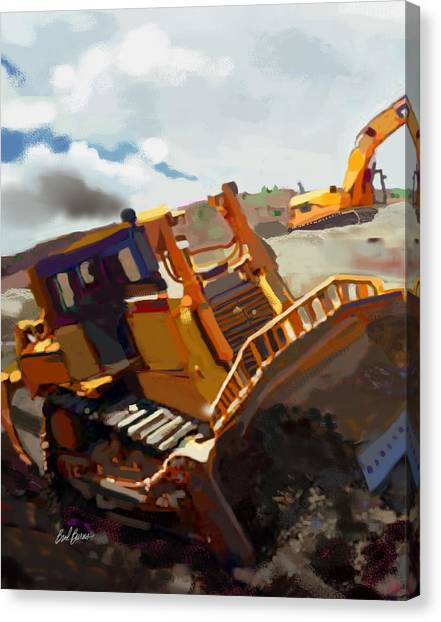 Bulldozers Canvas Print - Infineon Raceway by Brad Burns