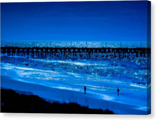 Infinite Blue Canvas Print
